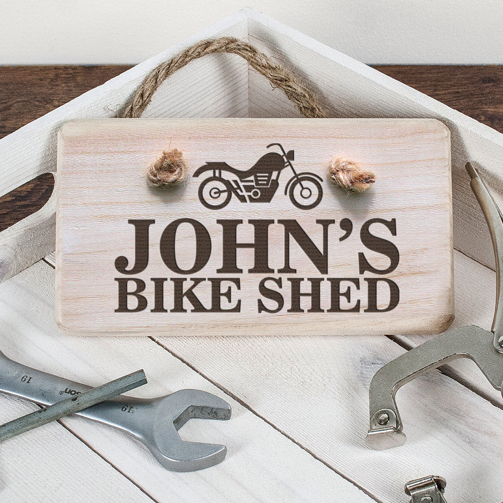 Personalised Wooden Bike Shed Sign - treat-republic