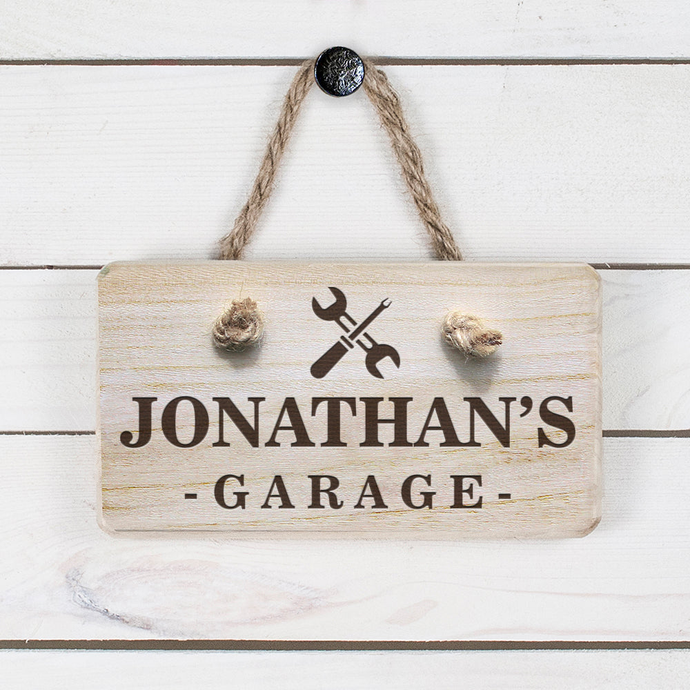 Personalised Wooden Garage Sign - treat-republic