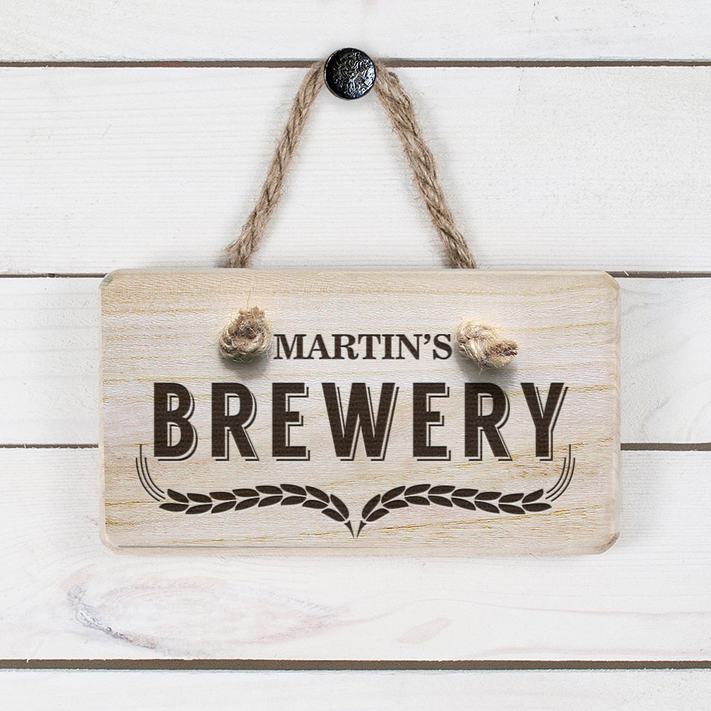 Personalised Wooden Home Brewery Sign - treat-republic