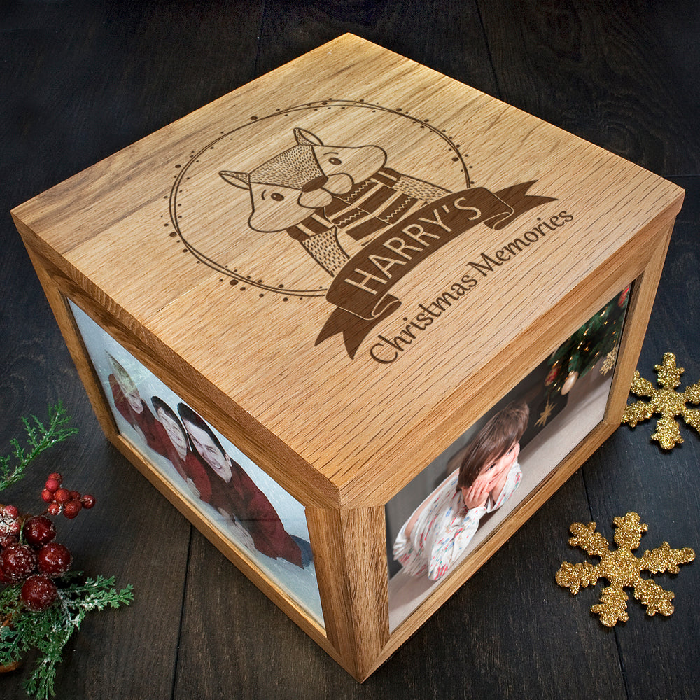 Personalised Woodland Chipmunk Christmas Memory Box - treat-republic