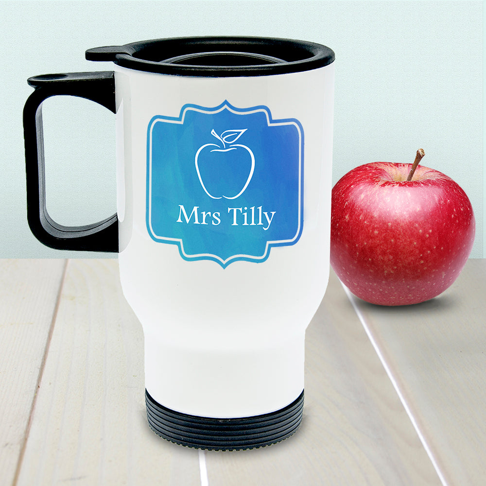 Personalised World's Best TEA-cher Travel Mug - treat-republic