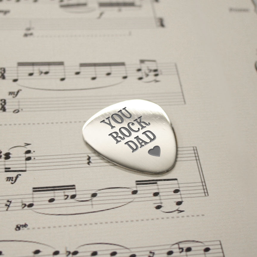 Personalised You Rock Dad Plectrum - treat-republic