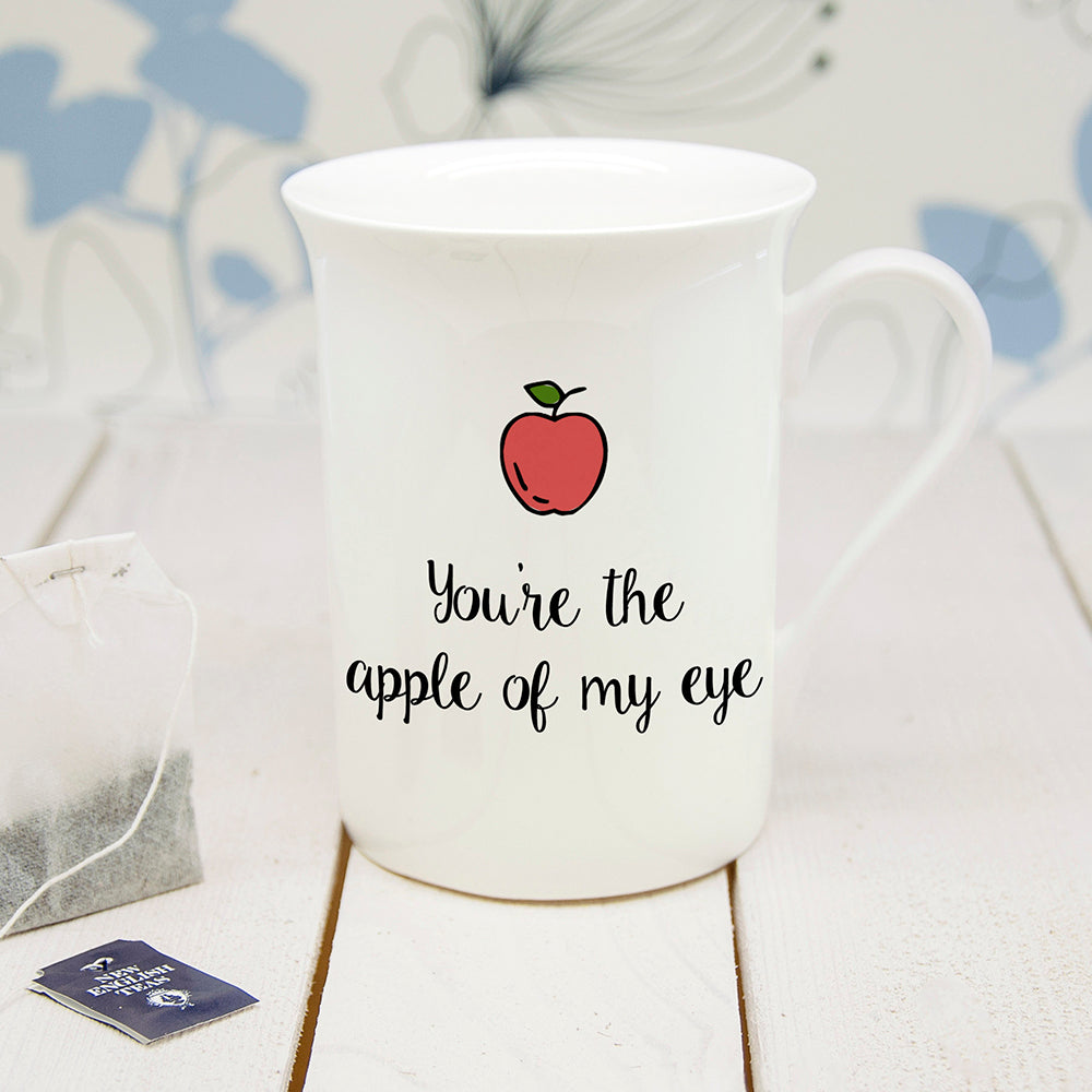 Personalised You're The Apple Of My Eye Bone China Mug - treat-republic