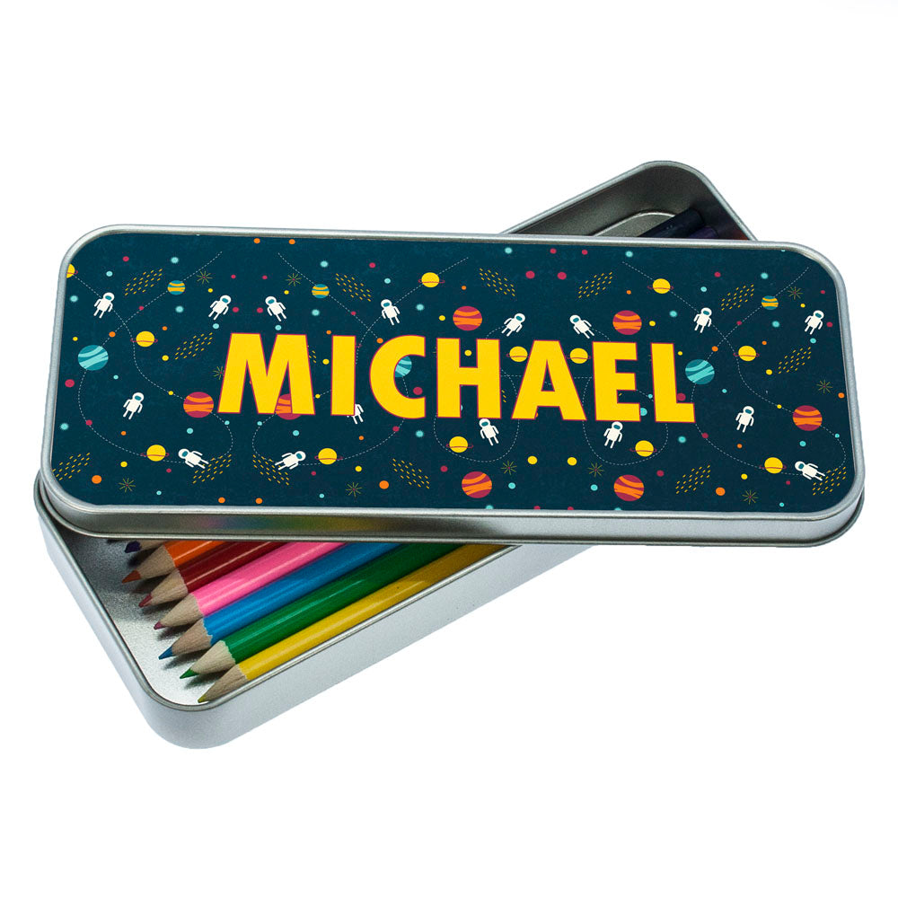 Planets and Space Themed Pencil Case - treat-republic