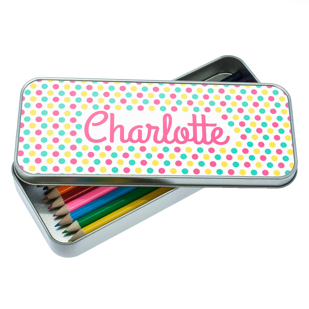 Pop Art Dotty Designed Pencil Case
