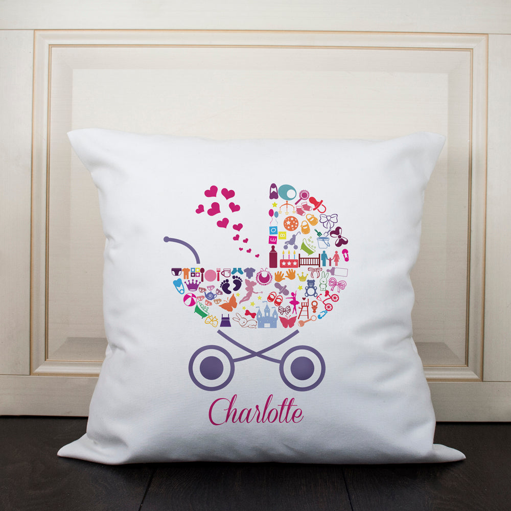 Pram Baby Memory Cushion Cover - Girl - treat-republic