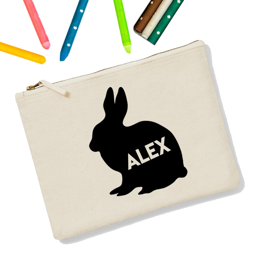 Rabbit Personalised Zipup Pencil Case - treat-republic