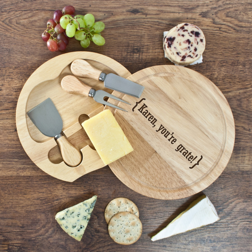 Romantic Brackets Round Cheese Board - treat-republic