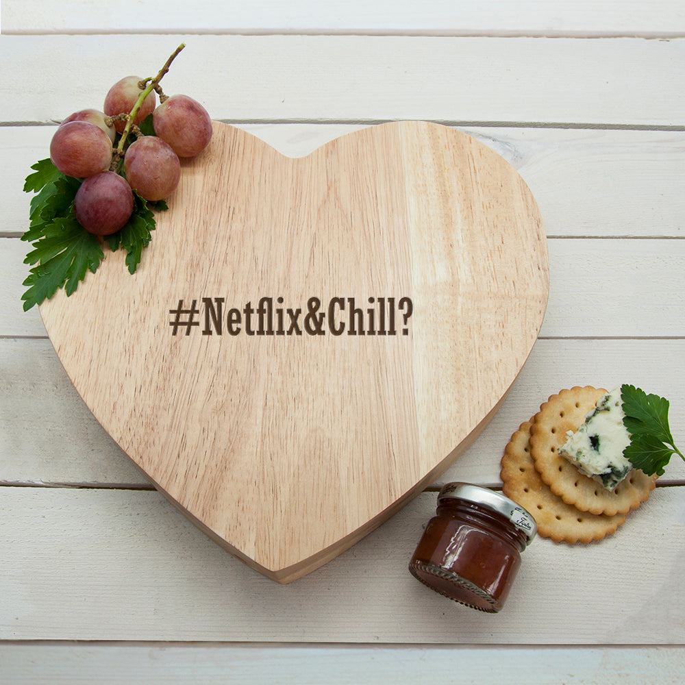 Romantic Hashtag Heart Cheese Board - treat-republic