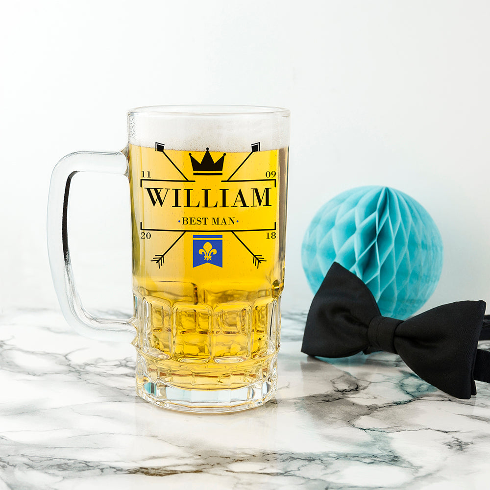 Royal Emblem Wedding Tankard - treat-republic