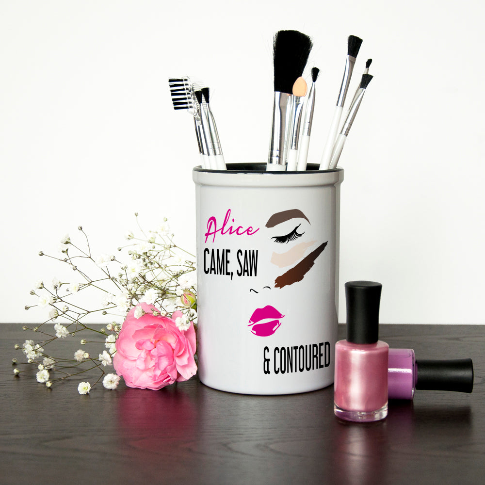 She Came, She Saw, She Contoured Personalised Make Up Brush Holder