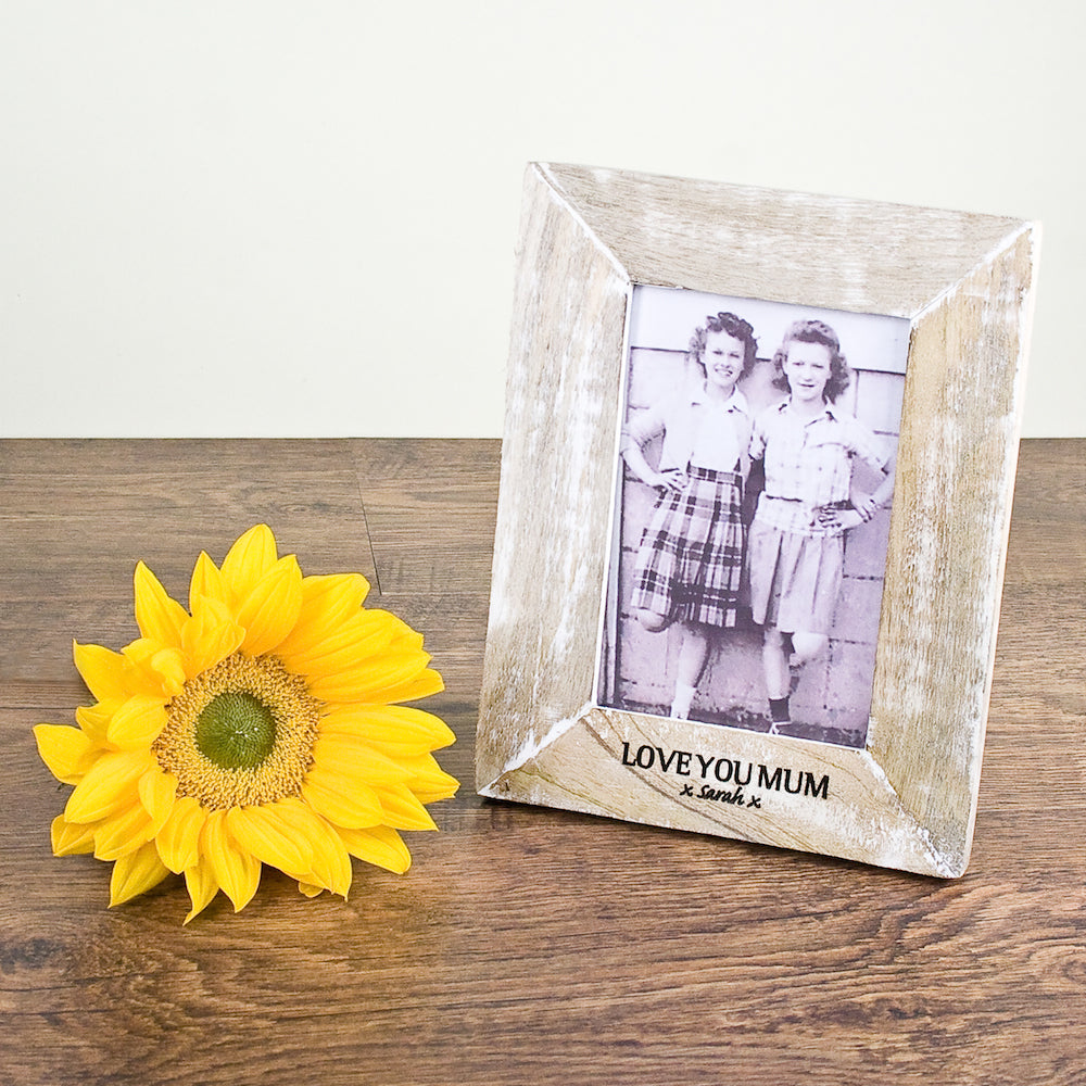 Single Rustic Photo Frame Wide Edge