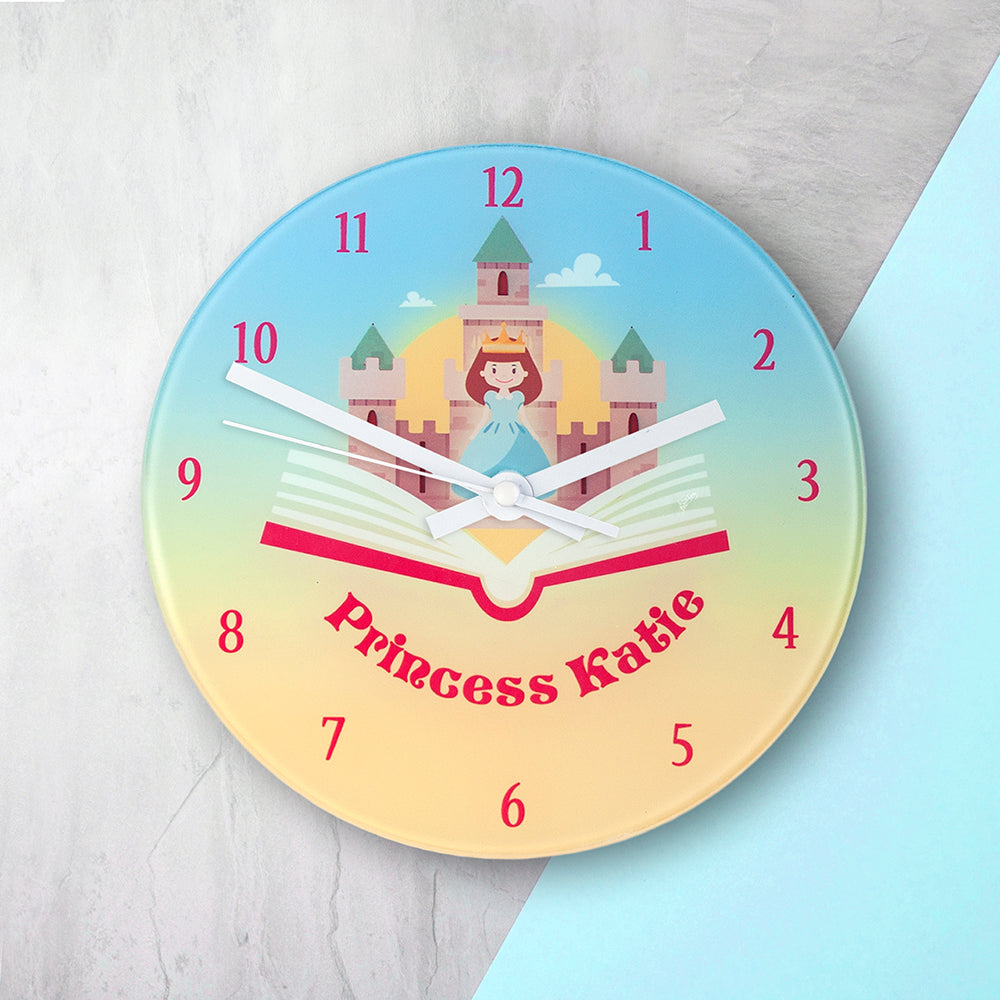 Storybook Princess Personalised Wall Clock - treat-republic