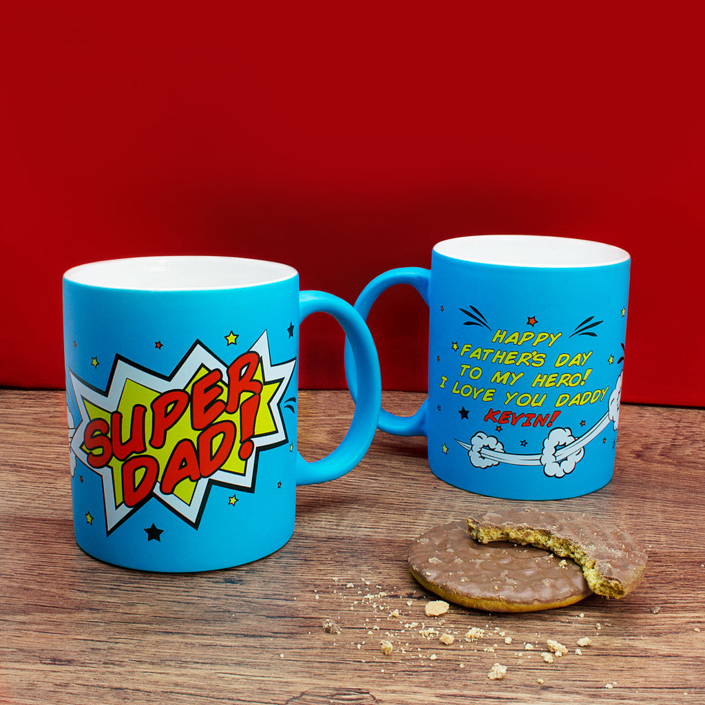 Personalised Superdad! Matte Coloured Mug - treat-republic