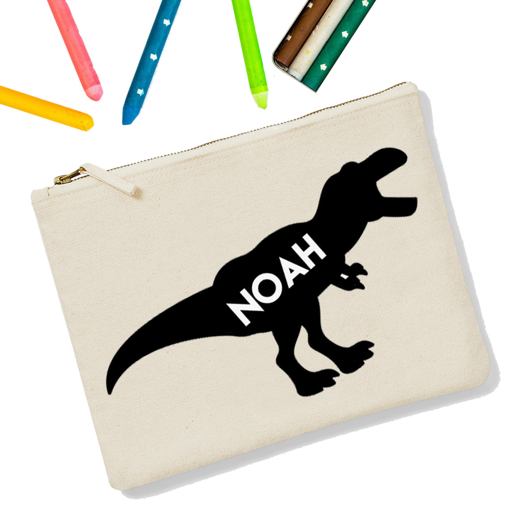 T-Rex Personalised Zipup Pencil Case - treat-republic