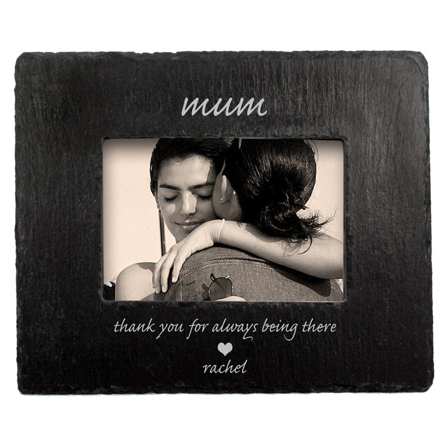 Thank You Mum Slate Photoframe