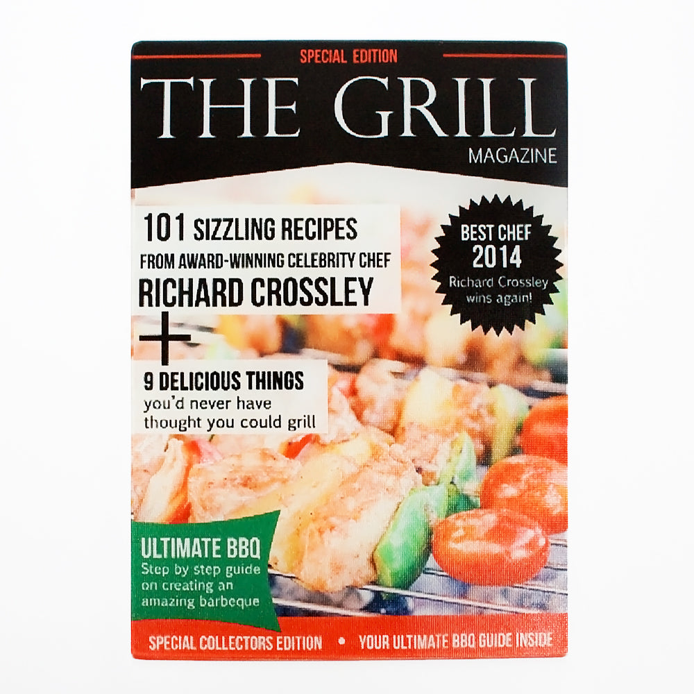 Personalised Grill Magazine Glass Chopping Board - treat-republic