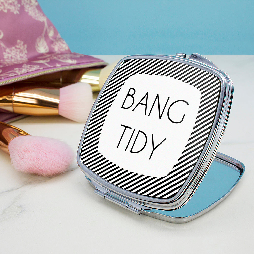 The Totally Flattering Personalised Square Compact Mirror - treat-republic