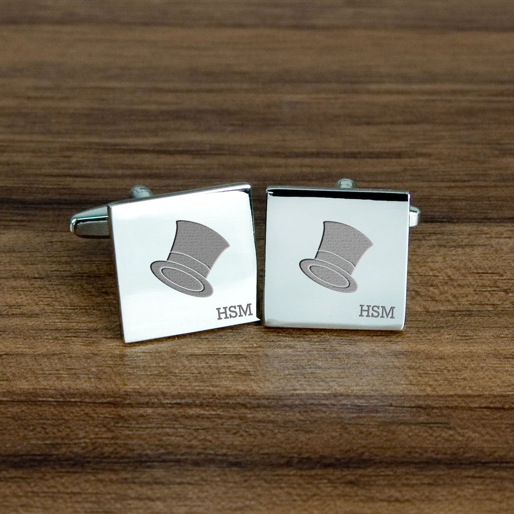 Top Hat Cufflinks - treat-republic