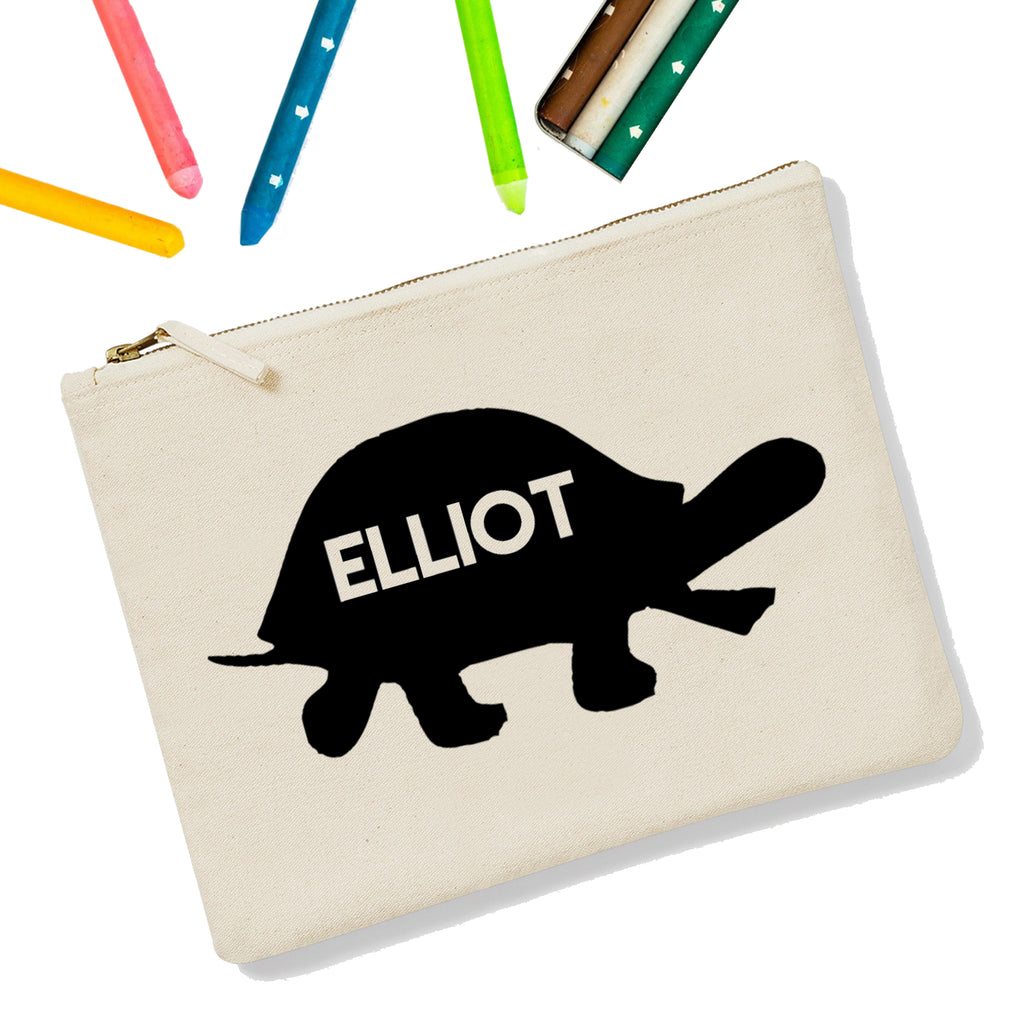 Turtle Personalised Zipup Pencil Case - treat-republic