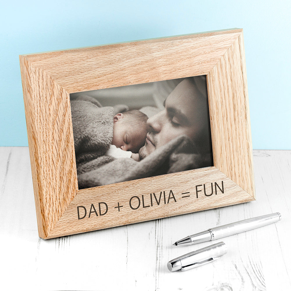 Wordsworth Collection Fun with Dad Engraved Photo Frame - treat-republic