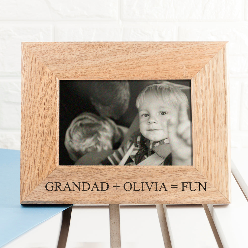 Wordsworth Collection Fun with Grandad Engraved Photo Frame - treat-republic