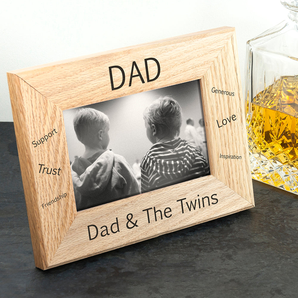 Wordsworth Collection Sentiments Dad Engraved Photo Frame - treat-republic