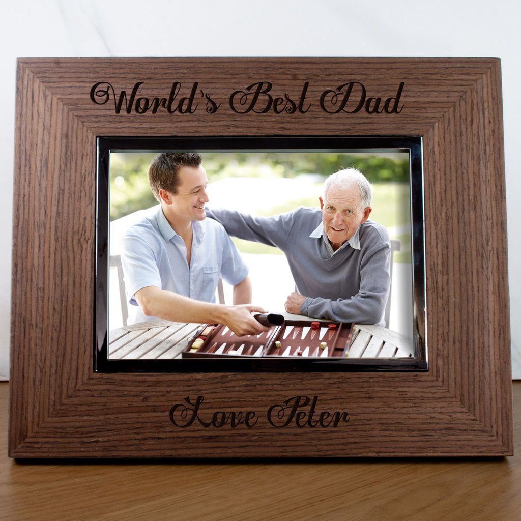 Worlds Best Dad Engraved Photo Frame
