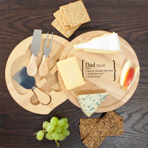 Your Own Definition Round Cheese Board with Knives - treat-republic
