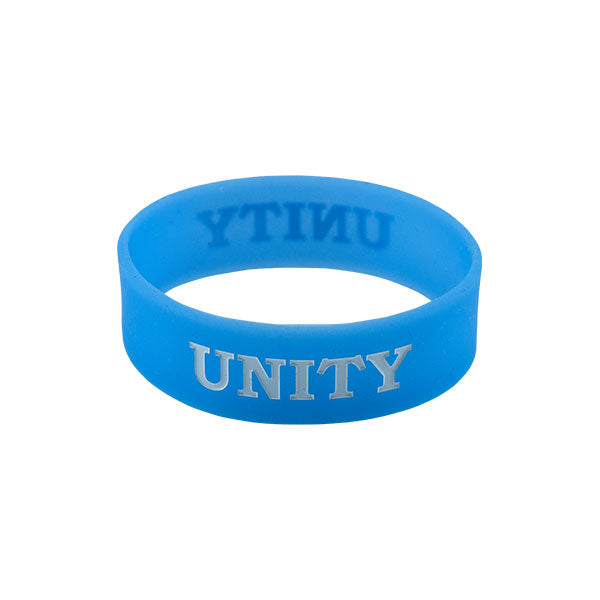 Light blue unity band bracelet in kids size