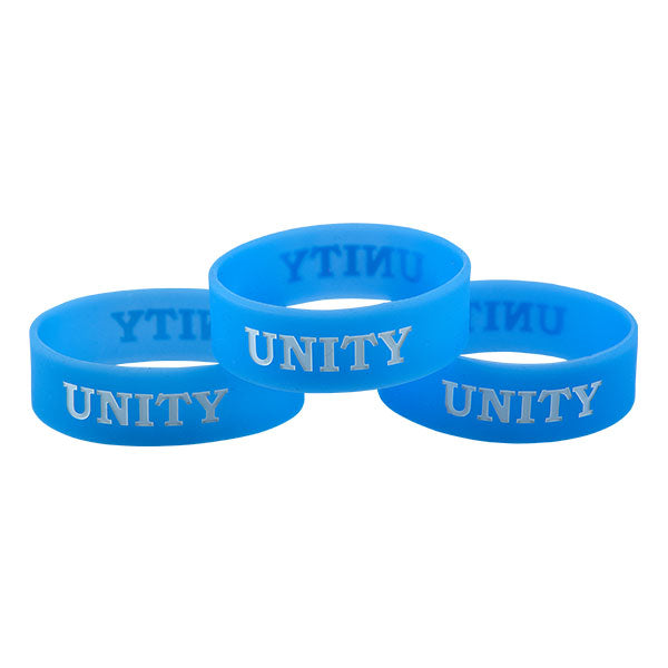 three light blue unity bands in kids sizes