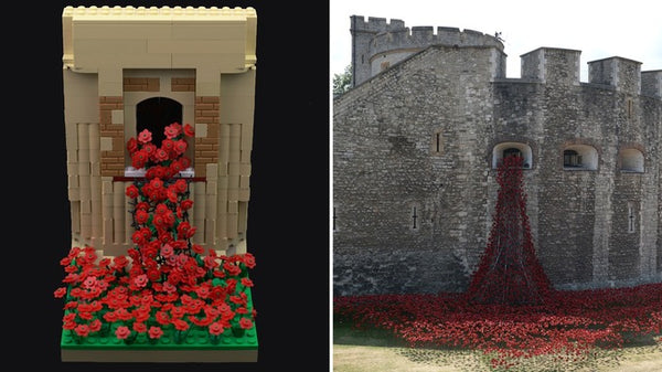 tower of London Lego poppies