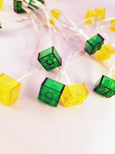 LEGO® Brick Fairy String Lights - Yellow/Green
