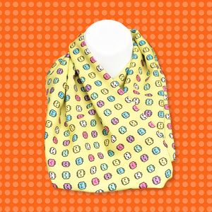 Minifigure Heads Scarf -  Pastel Yellow