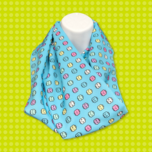 Minifigure Heads Scarf - Turquoise