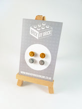 LEGO® Metallic Gold Silver Earrings