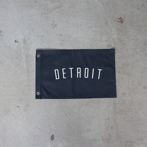 Black Detroit Flag