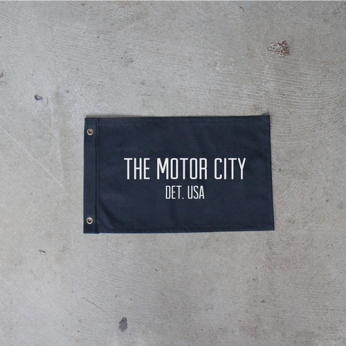 Black Motor City Flag