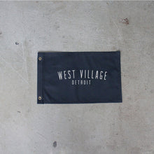 Load image into Gallery viewer, Black West Village Flag