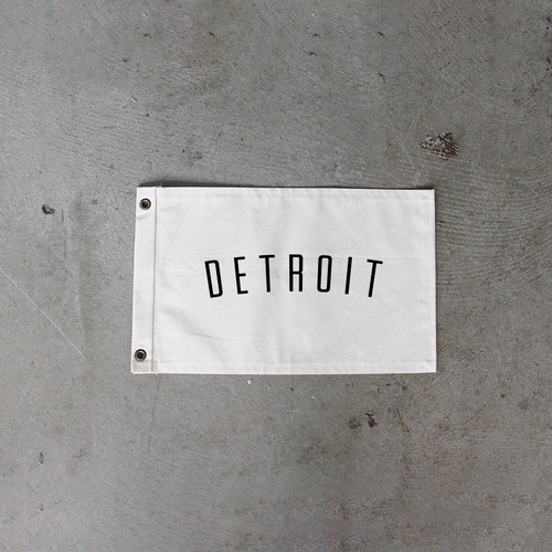 Natural Detroit Flag