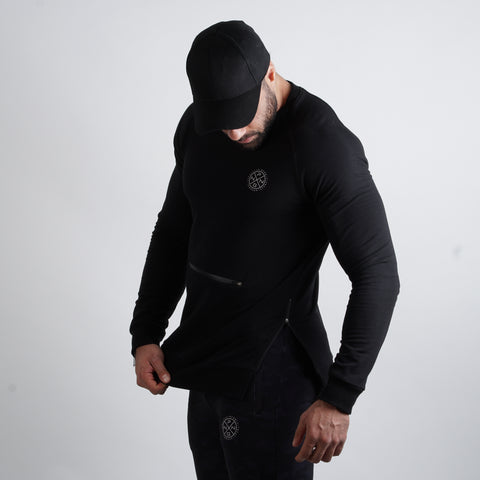 Sweatshirt Tactical Jet Black