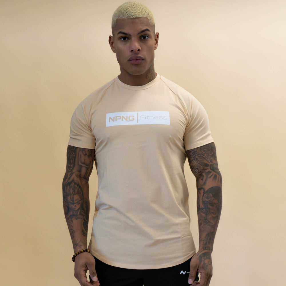 T-shirt Sicko Beige Gold