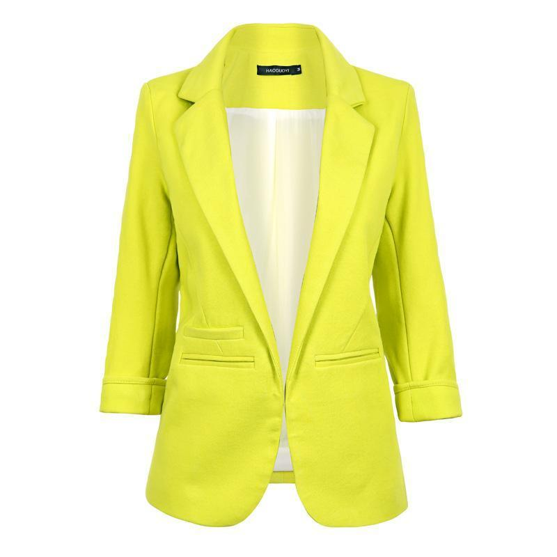 .Candy Tailored Collared Neck Blazer