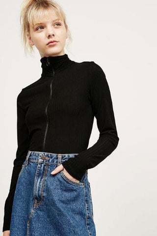 .Cotton Button Through Oversized Long Sleeve Top