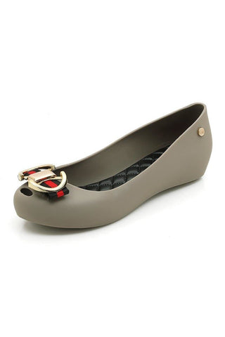 .Beaded Detail Pointed Toe Suede Flats