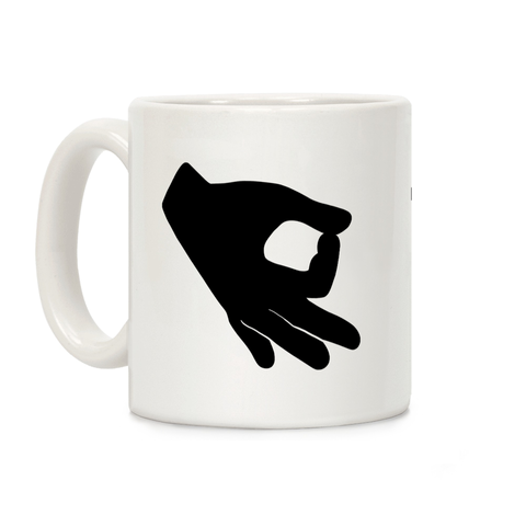 Finger Circle Ceramic Coffee Mug by LookHUMAN