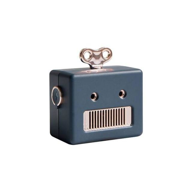 Mini Retro Robot Bluetooth Speaker with Microphone