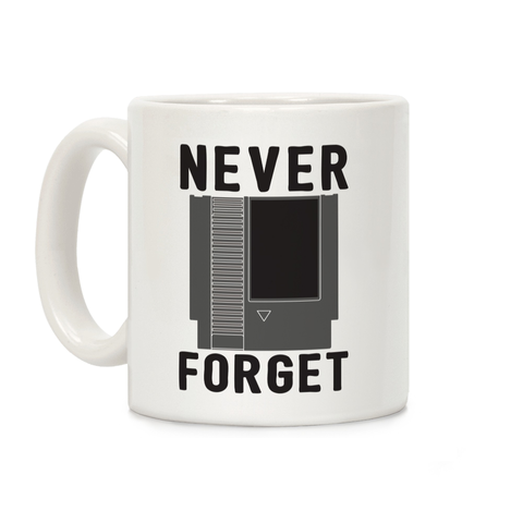 NES: Never Forget Ceramic Coffee Mug by LookHUMAN