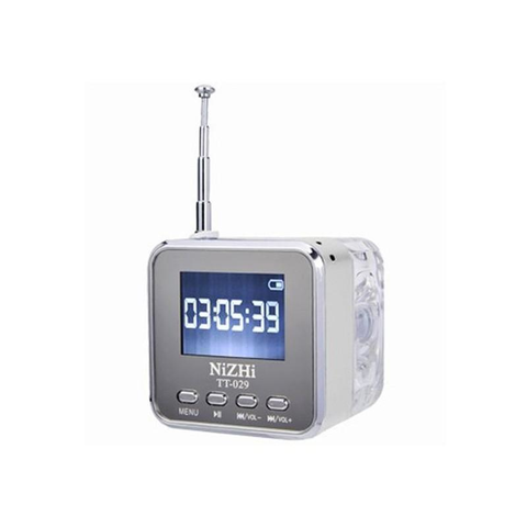 Mini Digital Alarm Clock with FM Radio and Speaker.