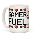 Gamer Fuel Ceramic Coffee Mug by LookHUMAN